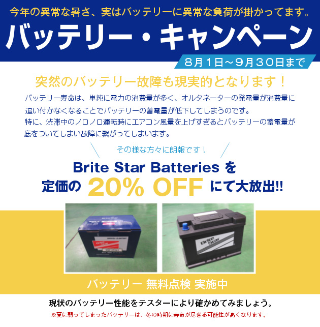 Brite Star Batteries を定価の 20% OFF